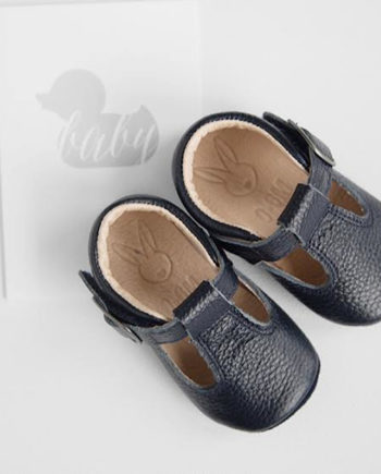 Aston baby shoes - Toddler Mary Jane shoes navy