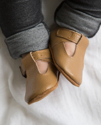 Aston baby shoes - Toddler Mary Jane shoes tan