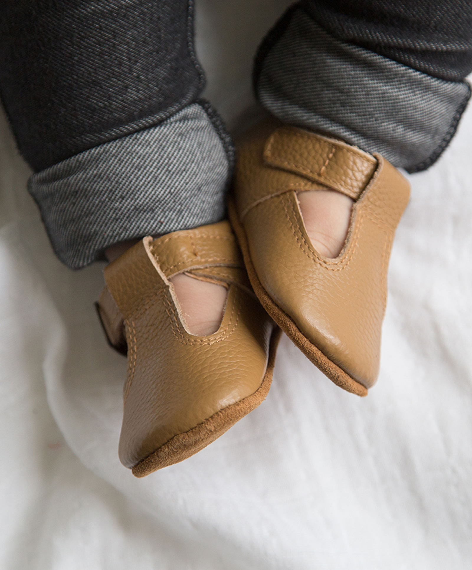 The Shaughnessy Shoe Tan Beautiful baby shoes good for Mom & Baby