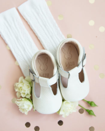 Aston baby shoes - Toddler Mary Jane shoes white