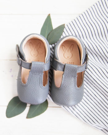 Aston baby shoes - Toddler Mary Jane shoes grey