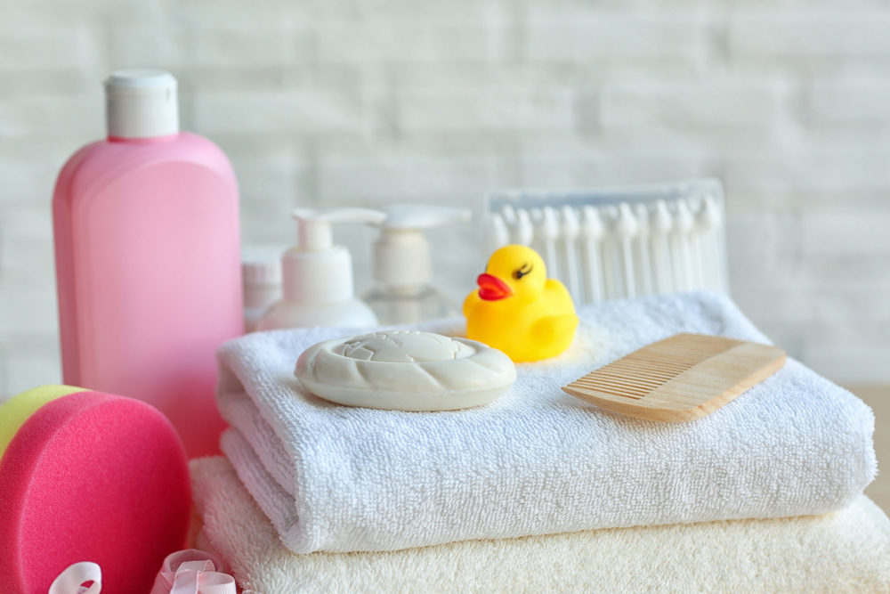 Photo of baby products like the ones featured on babyzone.com.